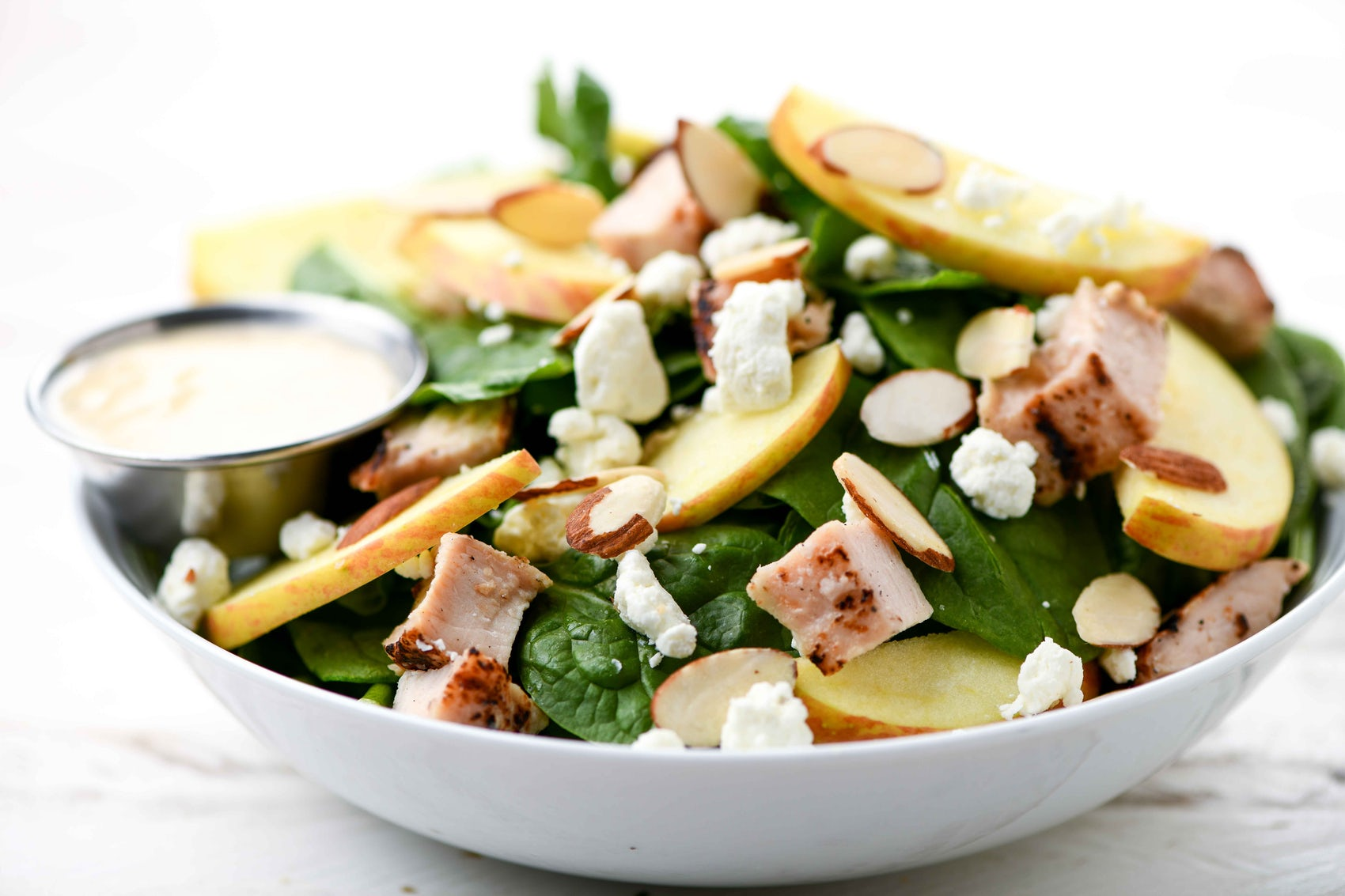Apple, Chicken and Spinach Salad